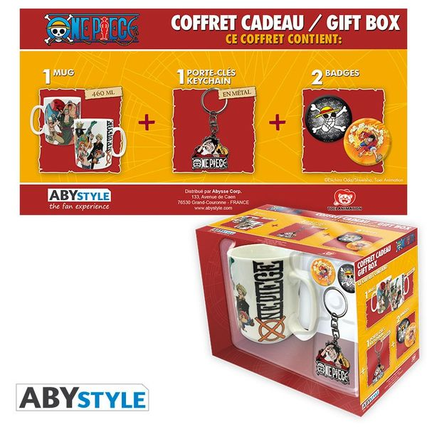 New World Mug, Keychain and Badges One Piece