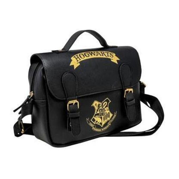 Bolso Termo Hogwarts Black & Gold (Satchel Style) Harry Potter