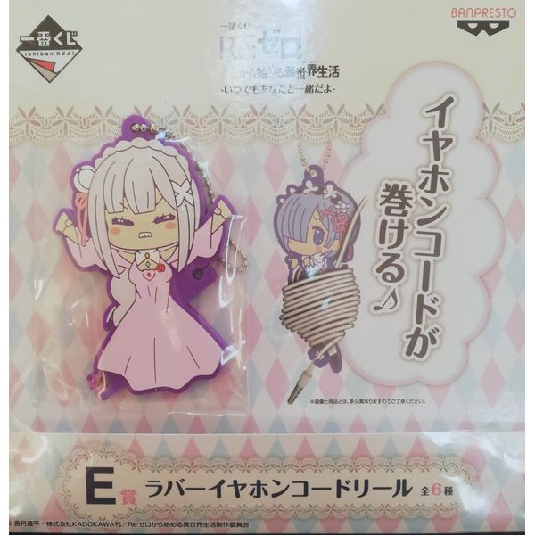 Llavero porta auriculares Emilia Re:Zero