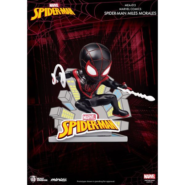 Figura Spider Man Miles Morales Marvel Comics Mini Egg Attack