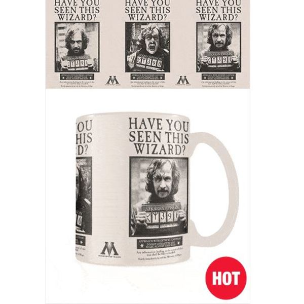 Taza Térmica Wanted Sirius Black Harry Potter