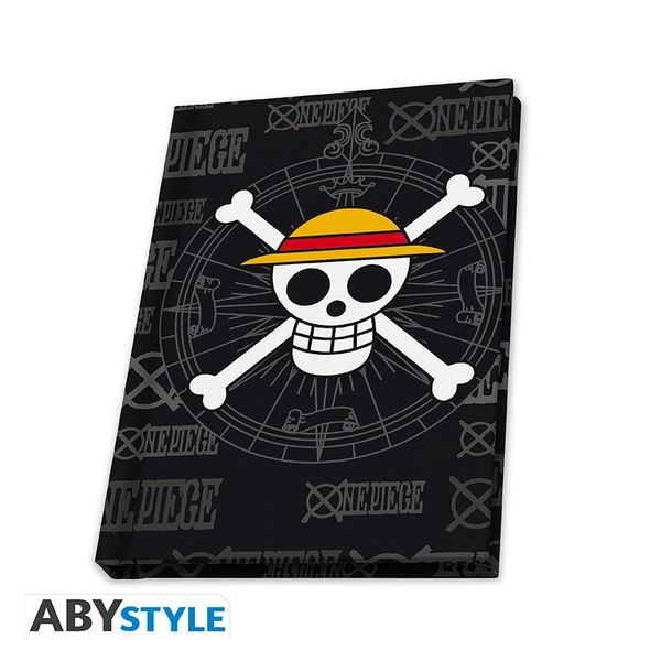 Pack Vaso + Pin + Libreta Skull One Piece