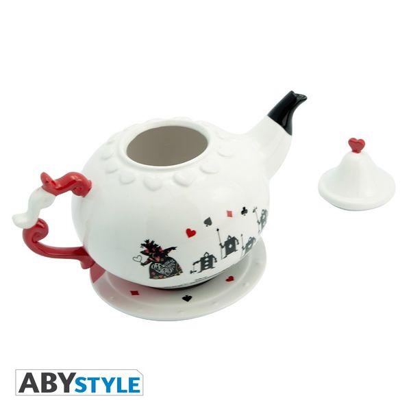 Alice in Wonderland Disney Queen of Hearts Teapot and Plate