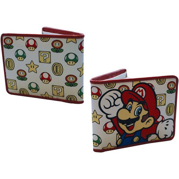 Super Mario Bothers  Green Mushroom  Wallet in Pink