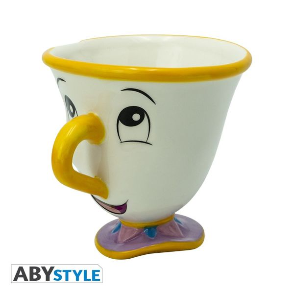 Tea Cup 3D Chip Beauty and the Beast