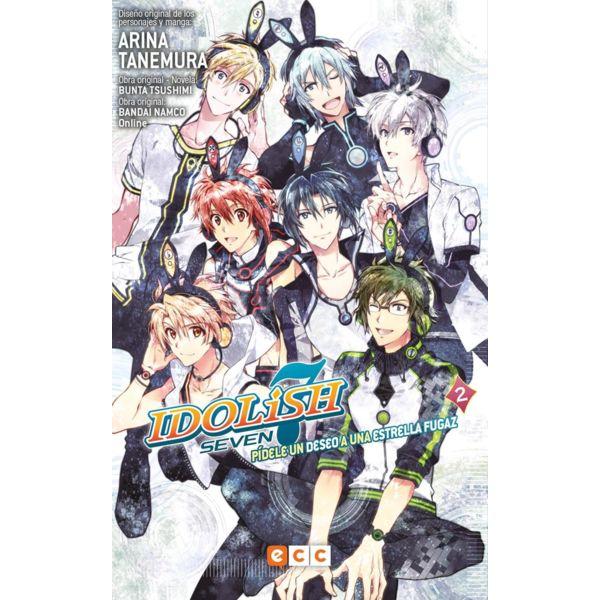 Idolish7 Pídele un deseo a una estrella fugaz #02 Manga Oficial ECC Ediciones