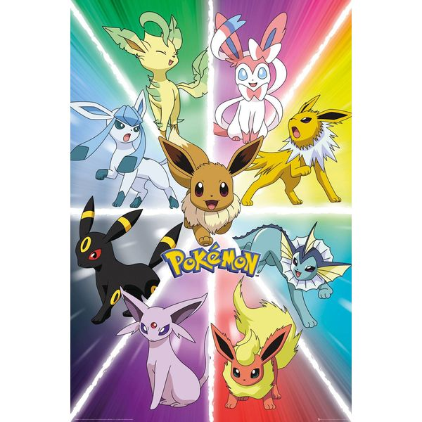 Póster Eevee Evolution Pokémon