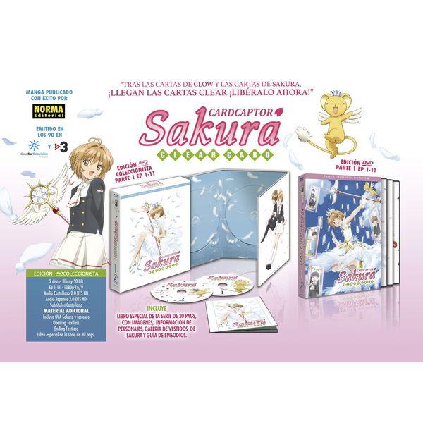 Card Captor Sakura Clear Card Edición Coleccionista Parte 1 Bluray