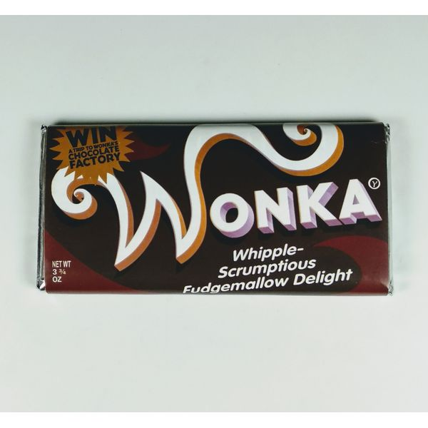 Chocolatina Wonka Chocolate Puro Charlie y la Fábrica de Chocolate