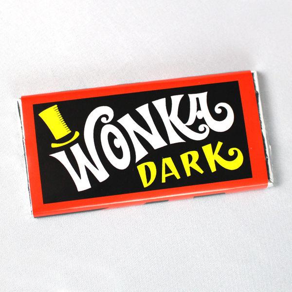 Chocolatina Wonka Dark Chocolate Negro Charlie y la Fábrica de Chocolate