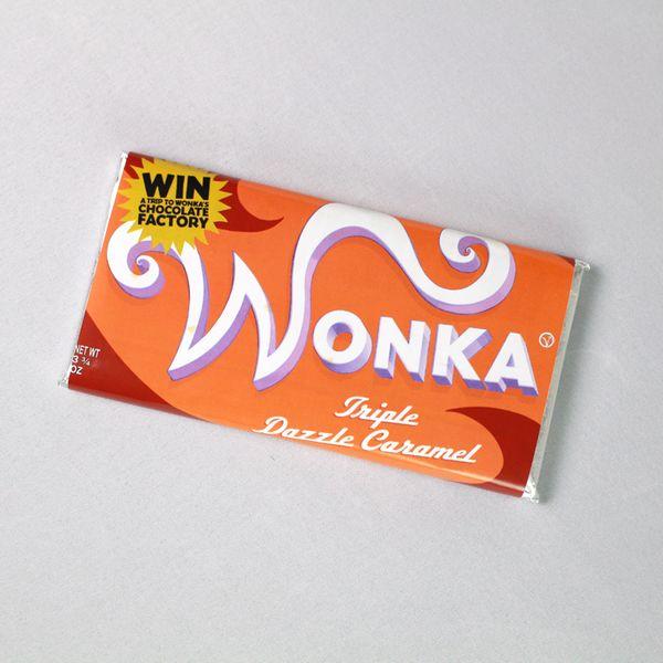 Wonka Triple Dazzle Caramel Chocolate Bar Charlie and the Chocolate Factory