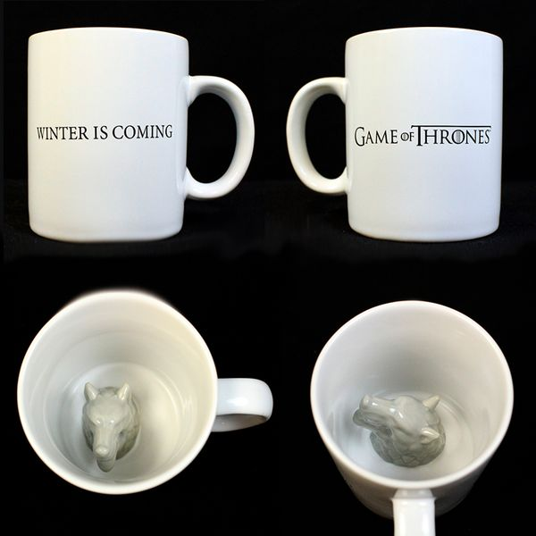 Stark Direwolf 3D Mug Game Of Thrones