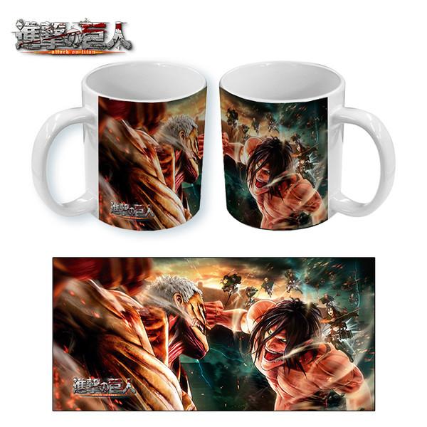 Mug Attack on Titans Titans Fight
