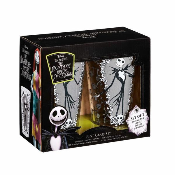 Jack And Bones Glasses 2-Set Nightmare Before Christmas