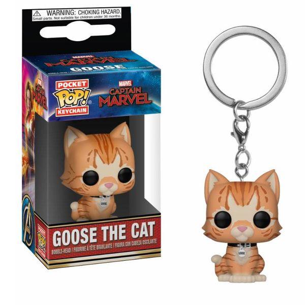 Llavero Goose el Gato Capitana Marvel POP!