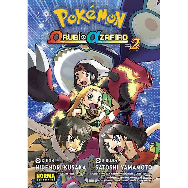Pokémon Omega Rubí Alfa Zafiro #02 Manga Oficial Norma Editorial