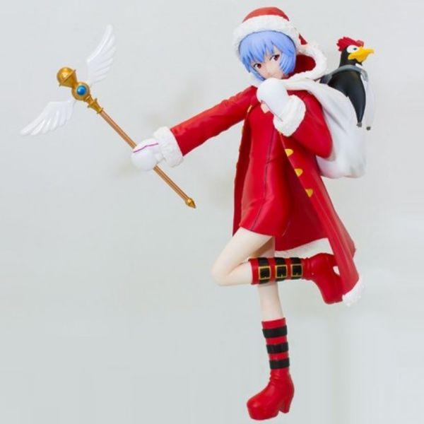Neon Genesis Evangelion Ayanami Rei y Pen Pen Christmas PM Figure