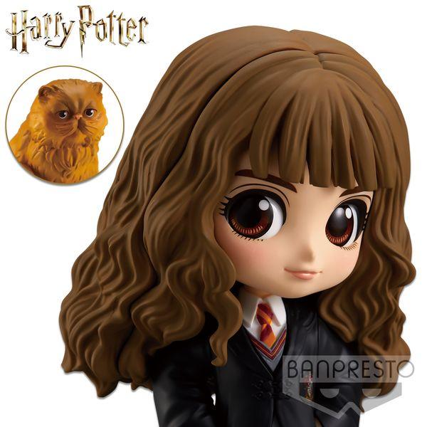 Hermione Granger & Crookshanks Figure Harry Potter Q Posket