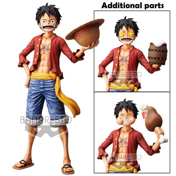 Figura Monkey D Luffy One Piece Grandista Nero