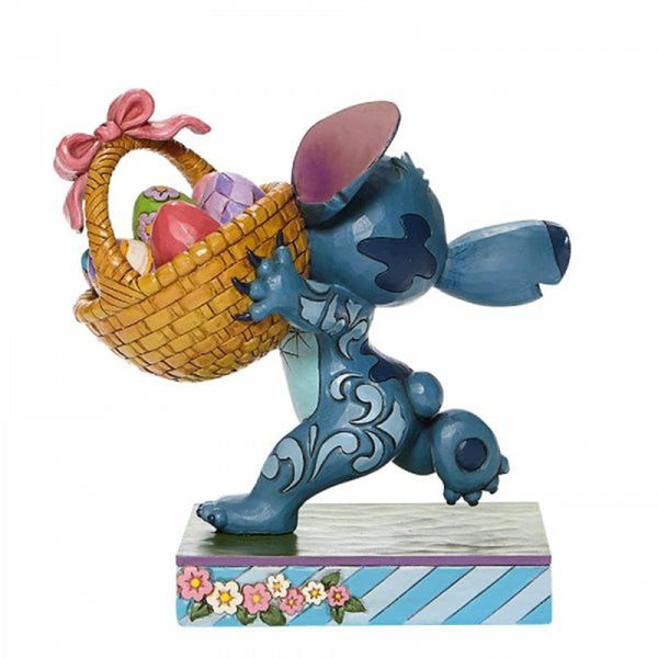 Figura Stitch con Canasta de Pascua Lilo y Stitch Disney Traditions