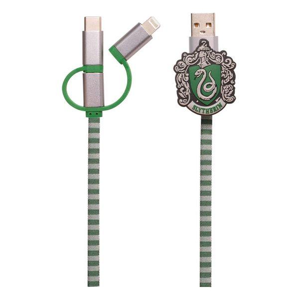 Cable de Carga Slytherin Bufanda Harry Potter 3in1