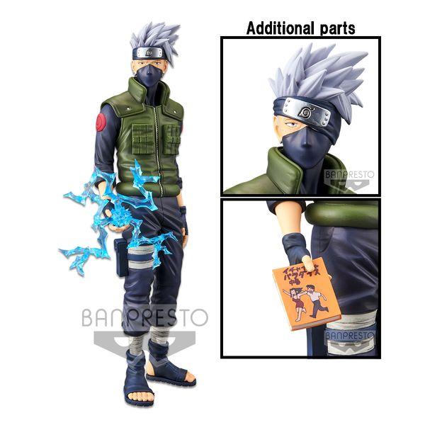Hatake Kakashi Figure Naruto Shippuden Grandista Nero