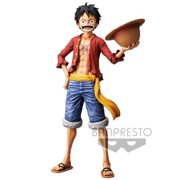 Figura Monkey D Luffy One Piece Grandista Nero