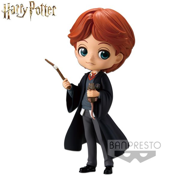 Ron Weasley with Scabber Figure Harry Potter Q Posket