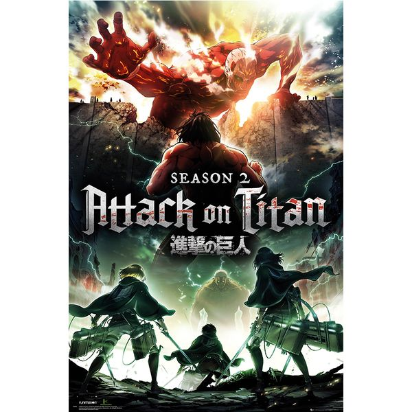 Poster Ataque a los Titanes Temporada 2 Key Art