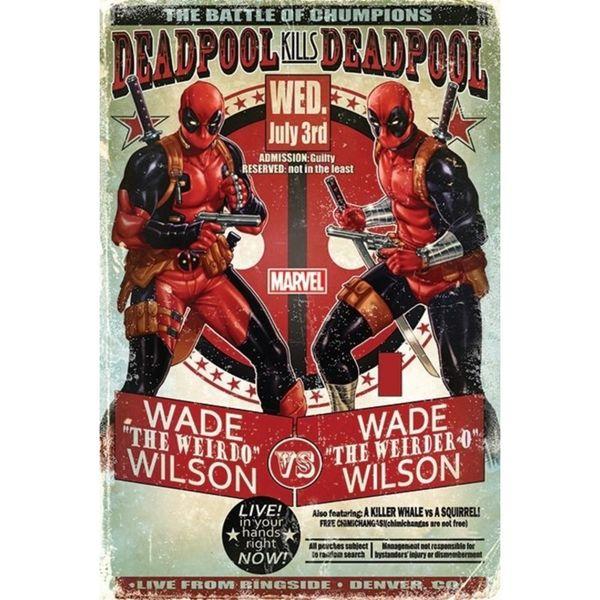 Poster Deadpool Wade vs Wade Marvel 91,5 x 61 cms