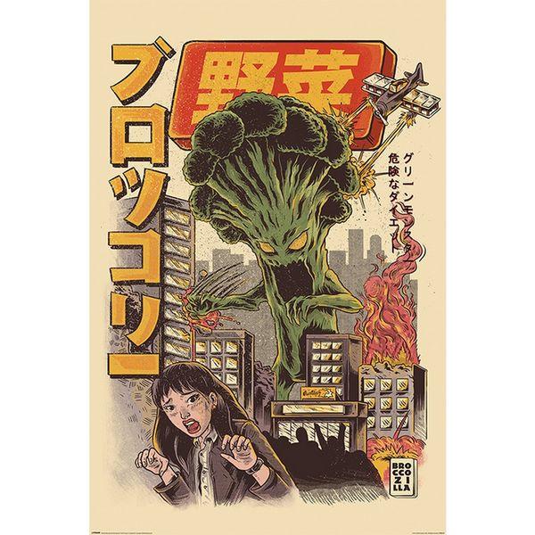 Poster Ilustrata Broccozilla 91,5 x 61 cms