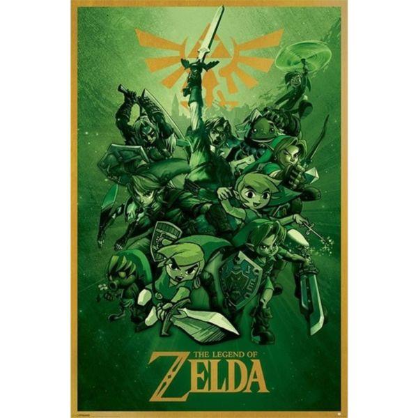 Poster The Legend of Zelda Verde 91,5 x 61 cms