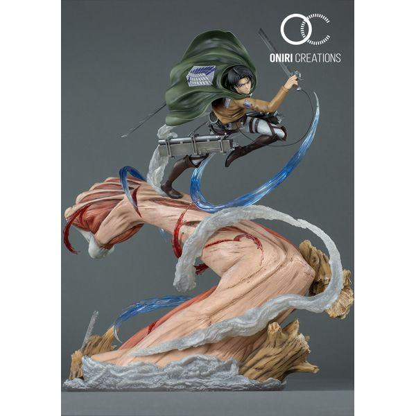 Estatua Levi Vs Titan Hembra Ataque a los Titanes