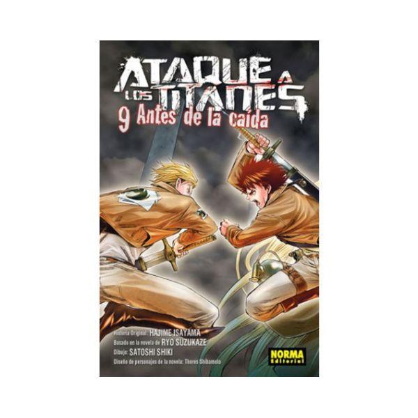 Ataque a los Titanes: Antes de la Caída #09 Manga Oficial Norma Editorial
