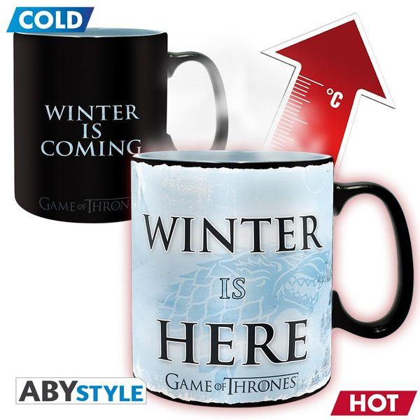 Taza t rmica juego de tronos winter is here kurogami - Taza termica para cafe ...