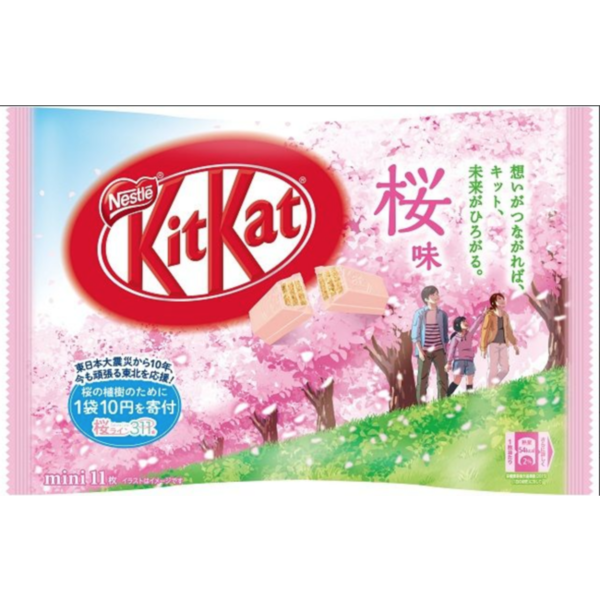 Bolsa de Kit Kat Mini sabor Sakura