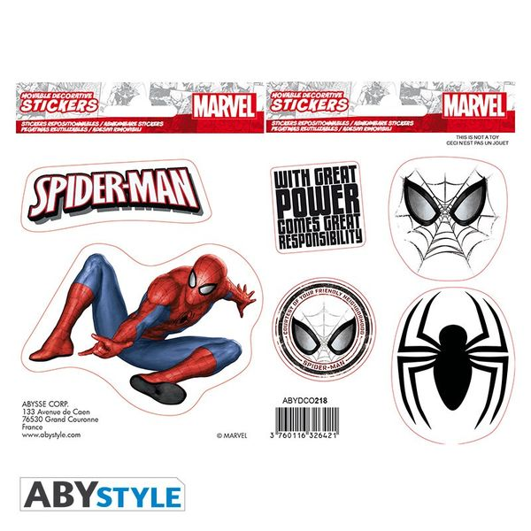 Spiderman stickers 16 x 11 cm