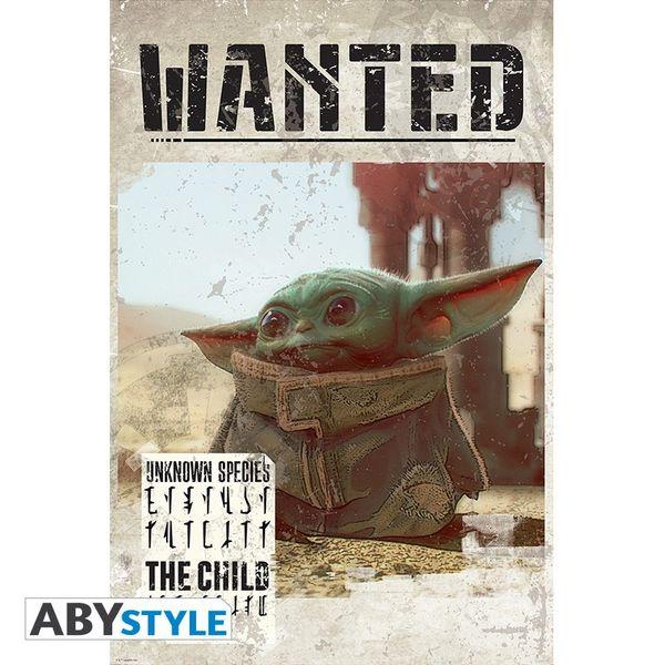 Baby Yoda Wanted Poster Star Wars The Mandalorian 91,5 x 61 cms