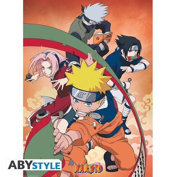 Team 7 and Confrontation Naruto vs Sasuke Poster set Naruto 52 x 38 cms