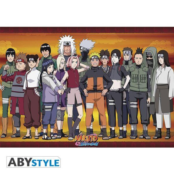 Poster Konoha Ninjas Naruto Shippuden 91.5 x 61 cms