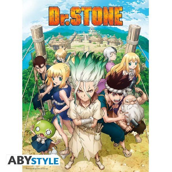 Poster Dr. Stone Grupo 52 x 38 cms