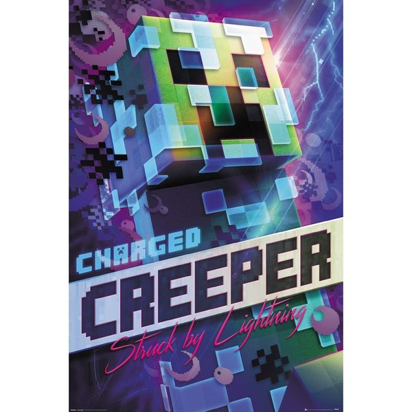 Poster Minecraft Charged Creeper 91,5 x 61 cms