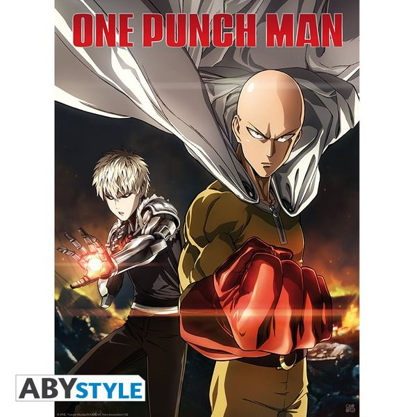 One Punch Man Poster Saitama & Genos 52 x 38 cms