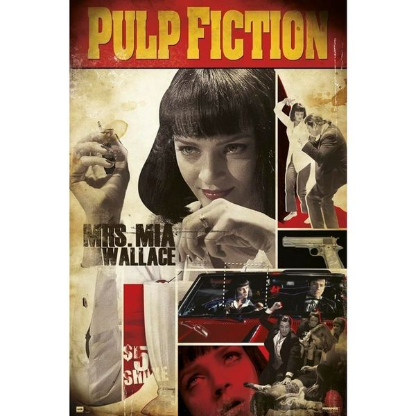 Poster Pulp Fiction Mrs. Mia 91,5 x 61 cms