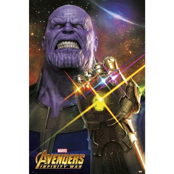 Poster Thanos Vengadores Infinity War 91,5 x 61 cms