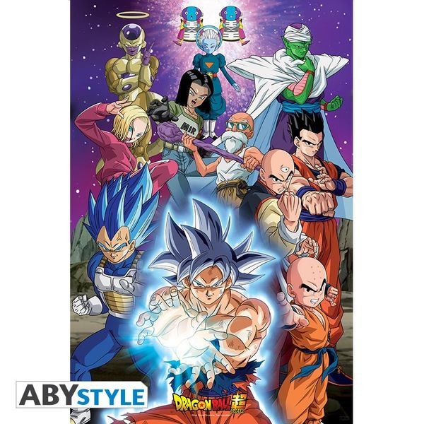 Poster Universo 7 Dragon Ball Super 91.5 x 61 cms