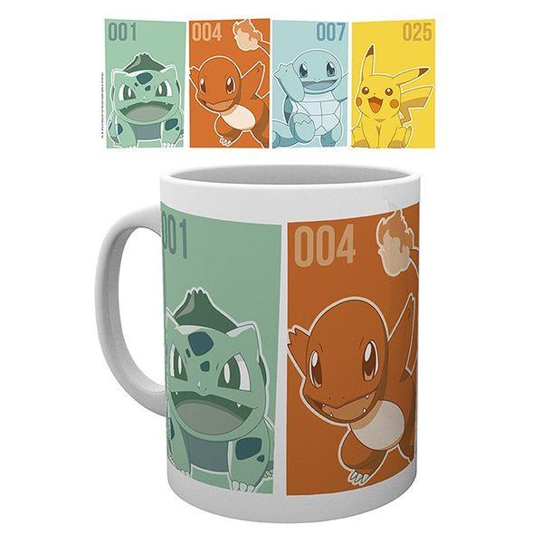 Taza Starters Primera Generacion Pokemon 320 ml