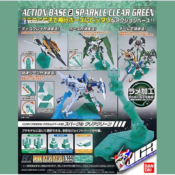Base soporte Clear Sparkle Verde