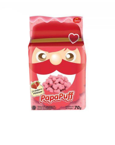 Pappapuff Strawberry Corn Snack