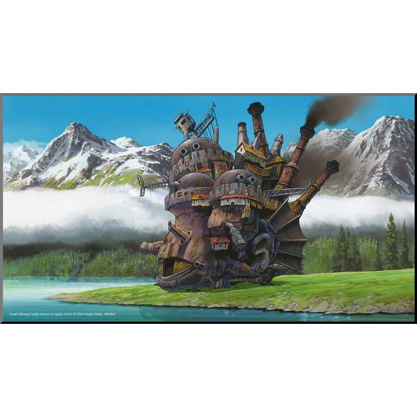 Póster de Madera El Castillo Ambulante Studio Ghibli